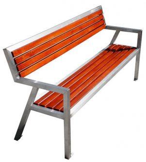 Nowoczesna ławka parkowa atena 180 cm – 84 kolory orzech