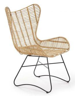 Fotel rattanowy uszak costal