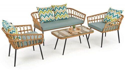 Rattanowa sofa ogrodowa selena 3x-wielobarwna