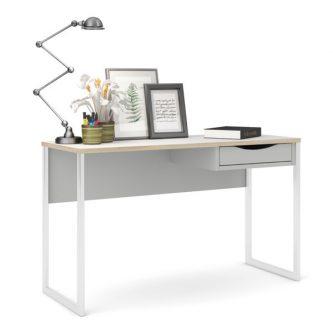 Białe biurko z szufladą function plus 1s