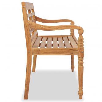 Drewniana ławka ogrodowa rea – brązowa