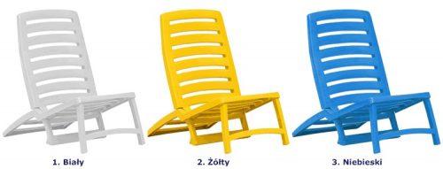 Komplet leżaków plażowych lido – żółte