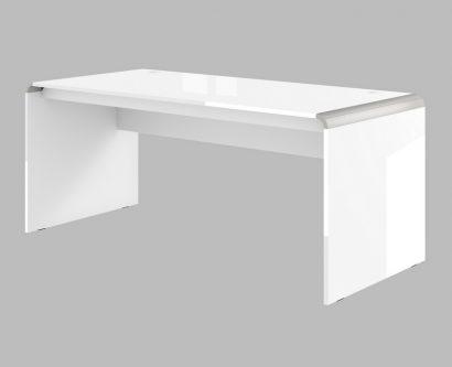 Dwuosobowe biurko w wysokim połysku milano double