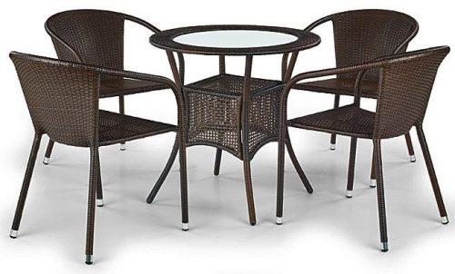 Rattanowy stół ogrodowy lukka – okrągły