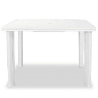 Praktyczny stół ogrodowy imelda – biały