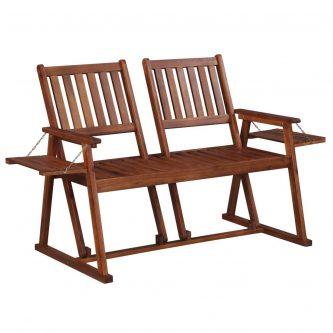 Drewniana ławka ogrodowa lucas – brązowa
