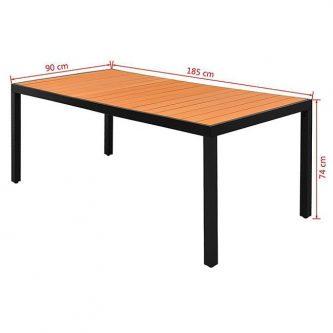 Stół ogrodowy, na podwórko i na patio sama 3x – brązowy