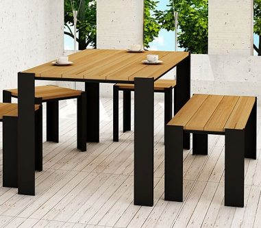 Stół ogrodowy 150 cm redis- 24 kolory wenge
