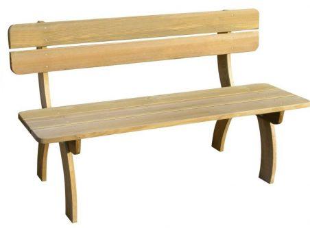 Drewniana ławka ogrodowa abder – brązowa