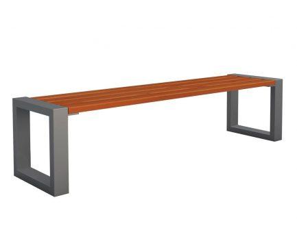Ławka bez oparcia norin 3x gray 150cm – 8 kolorów wenge