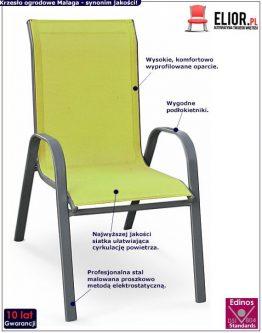 Modne krzesło ogrodowe malaga- zielone