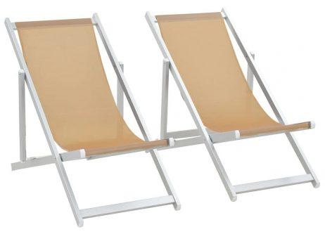 Komplet krzeseł plażowych strand – kremowe