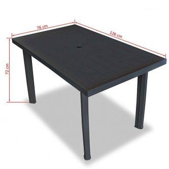 Praktyczny stół ogrodowy imelda 2x – antracytowy