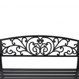 Metalowa ławka ogrodowa clyde – czarna