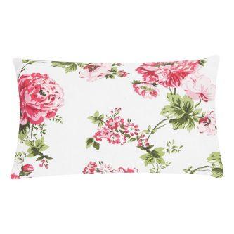 Dekoracyjna poduszka z kwiatowym printem adithi sand 30×50