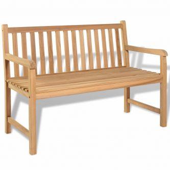 Drewniana ławka ogrodowa tanas – brązowa
