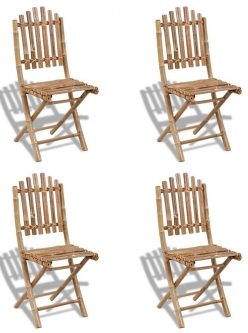 Składane krzesła bambusowe javal – 4 szt.