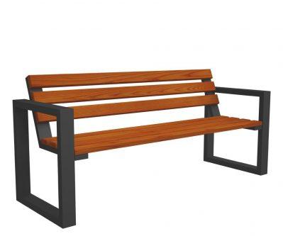 Drewniana ławka parkowa norin gray 150cm – 8 kolorów wenge