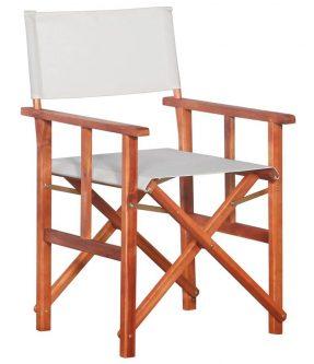 Krzesło reżyserskie tarasowe martin – białe