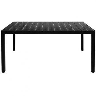 Stół ogrodowy, na podwórko i na patio sama 2x – czarny