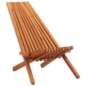 Drewniane krzesło ogrodowe derek – brązowe