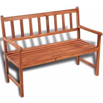 Drewniana ławka ogrodowa dean – brązowa