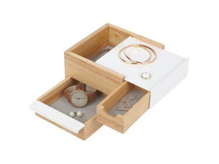 Drewniany organizer z szufladami stowit mini