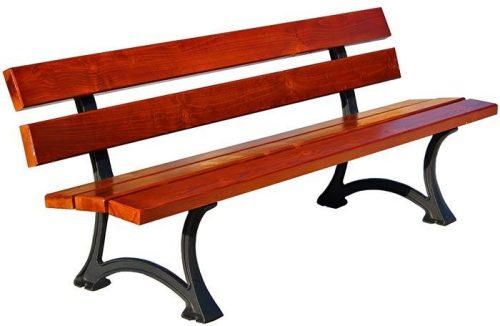 Ławka drewniana ogrodowa flavia 2x 150 cm – 7 kolorów orzech