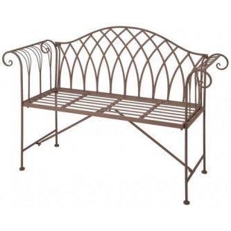 Metalowa ławka ogrodowa foner – brązowa