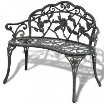 Metalowa ławka ogrodowa loryn – zielona