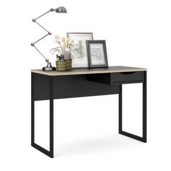 Czarne biurko z szufladą function plus 1s