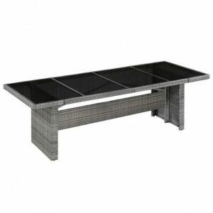 Sielski stół ogrodowy semma 1q – szaro-czarny