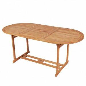 Stół ogrodowy crayon 2x – lite drewno tekowe