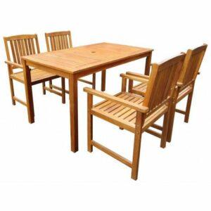 Drewniany zestaw mebli ogrodowych kint – brązowy