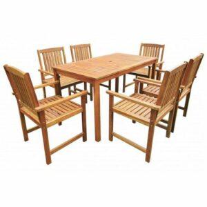 Drewniany zestaw mebli ogrodowych kint 2x – brązowy