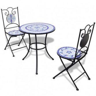 Zestaw mebli ogrodowych karen – niebiesko-biały