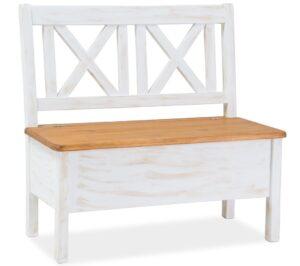 Drewniana ławka poprad brąz miodowy / sosna patyna