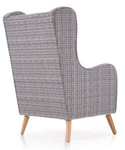 Tapicerowany fotel wypoczynkowy wielobarwny chester