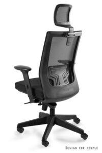 Krzesło obrotowe z zagłówkiem nez czarne