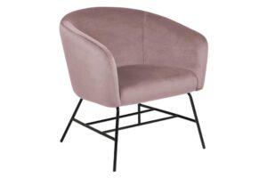 Designerski fotel wypoczynkowy na czarnej podstawie ramsey vic