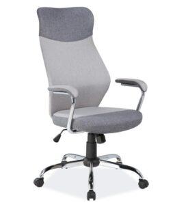 Szare krzesło biurowe q-319