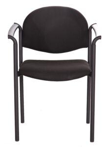 Tapicerowane krzesło biurowe z podłokietnikami styl pd