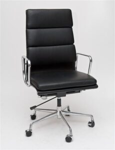 Fotel biurowy ch2191t skóra chrom