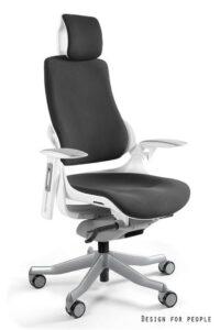 Fotel ergonomiczny wau biały / tkanina bl418