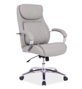 Obrotowy fotel z ekoskóry z regulacją lędźwiową director
