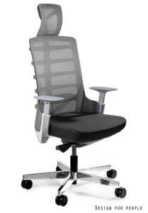 Fotel biurowy z zagłówkiem spinelly 999b czarny