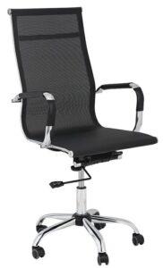 Obrotowe krzesło biurowe z wysokim oparciem z siatki profil