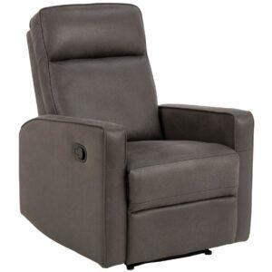 Regulowany fotel wypoczynkowy asila szary z wysuwanym podnóżkiem