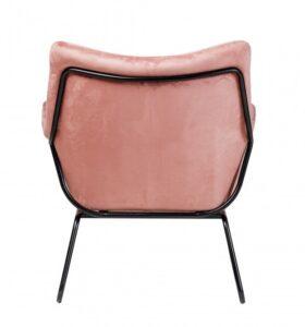 Aksamitny fotel wypoczynkowy z poduszką kavos