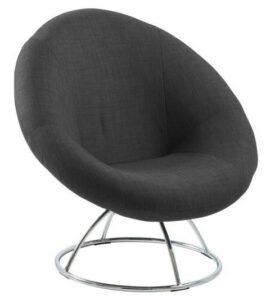 Obrotowy fotel na metalowej podstawie garcia